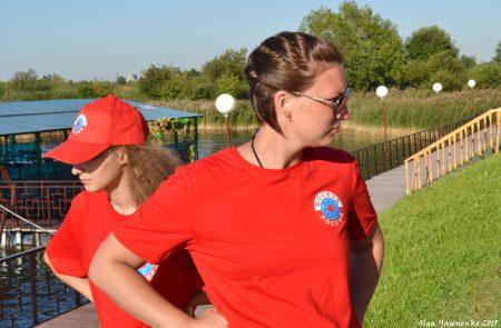 Девушки из спасательной службы на Купчинских карьерах.