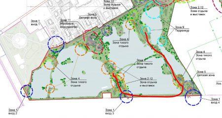 Зонирование территорий нового парка