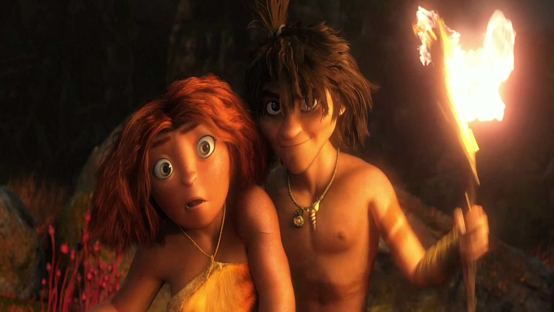 The-Croods-Eep-And-Guy-Wallpapers