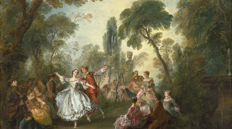 Nicolas Lancret (French, 1690 - 1743 ), La Camargo Dancing, c. 1730, oil on canvas, Andrew W. Mellon Collection