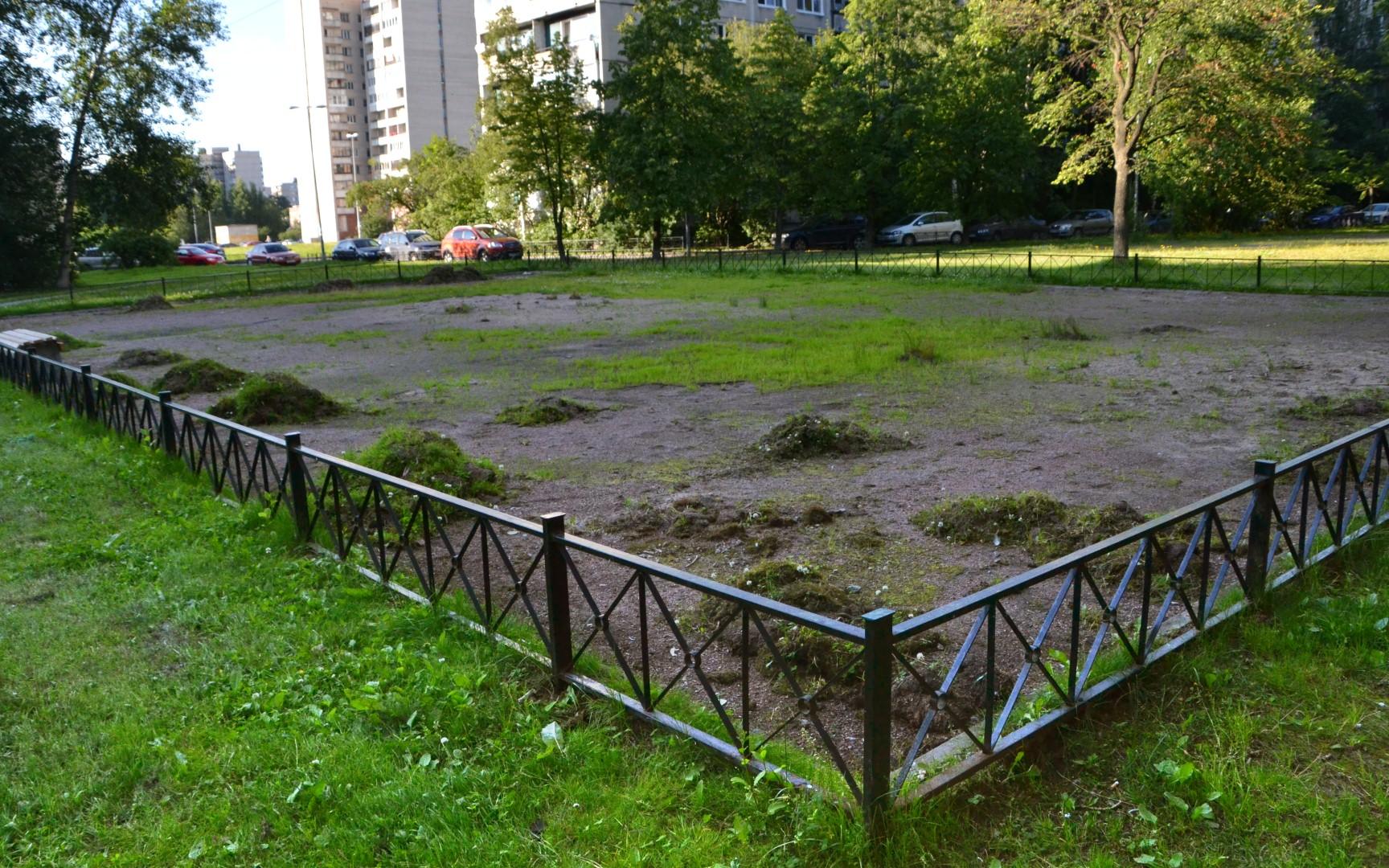 Снесенная спортивная площадка